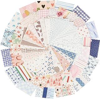300PCS Feuilles Papier Scrapbooking Matériel 56 x 83mm Bricolage Journal Scrapbook Carterie Accessoires Décoration (Motif B)