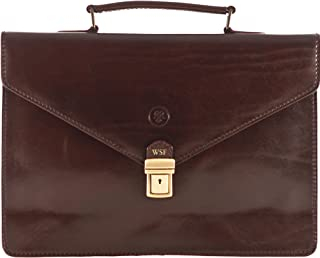 Best brown briefcase leather Reviews