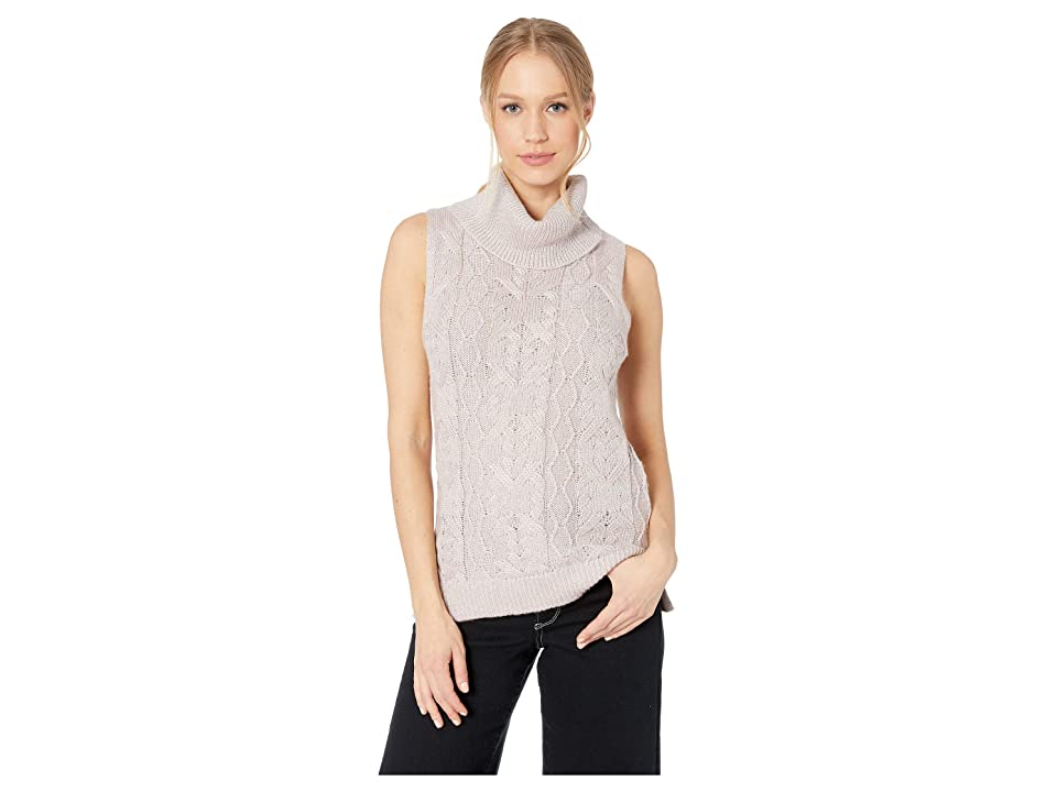 BB Dakota Sweater with Me Cable Knit Sweater Vest (Mauve Rose) Women