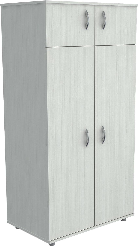 Inval America 4 Door Wardrobe Armoire, Laricina White (AM-12623)