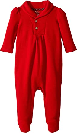 Ralph Lauren Baby - French-Rib Coverall (Infant)