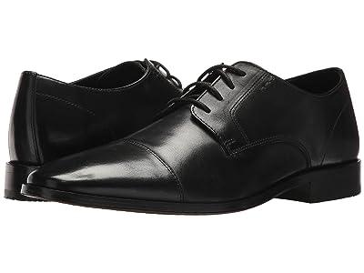 Bostonian Nantasket Cap (Black Leather) Men