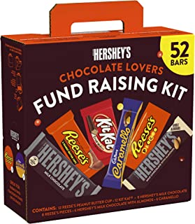 HERSHEY'S Chocolate Candy Bar Fund Raising Assortment (HERSHEY'S, REESE'S, KIT KAT, CARAMELLO, REESE'S PIECES, HERSHEY's w...