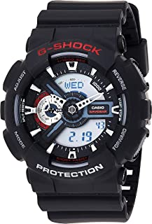 GSHOCK Men's Automatic Wrist Watch analog-digital Display and Resin Strap, GA110-1A