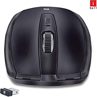 iBall Freego G18 Wireless 2.4GHz Wireless Technology Mouse (Black)