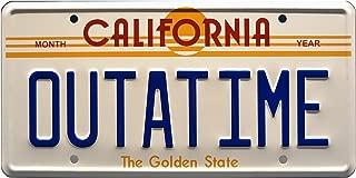 license plate back to the future delorean