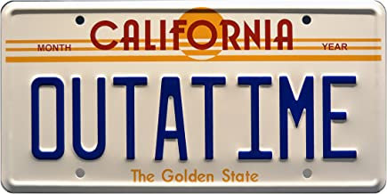 Celebrity Machines Back to The Future | Delorean | Outatime | Metal Stamped Vanity Prop License Plate