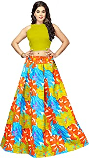 d21070c0ee Bandidhari Fashion women's Embroidered multi colour Semi Stitched Banglori  Satin lehengas, lehenga choli(BF