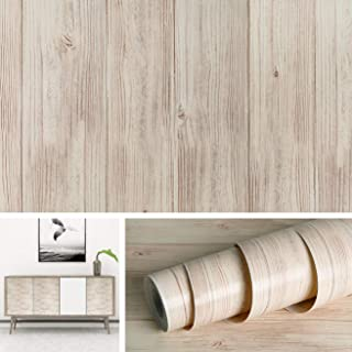 Livelynine Wood Wallpaper Peel and Stick Shiplap Wall Paper Self Adhesive Ship lap Bulletin Board Paper Waterproof Removable Wood Paper Kitchen Cabinet Shelf Liners Removable Wood Vinyl 17.7x78.8 Inch