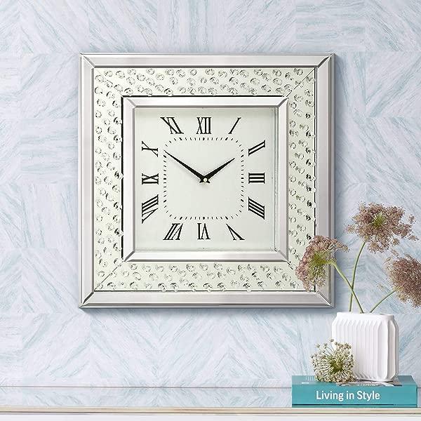 Newhill Designs Cielo Mirrored 20 Square Wall Clock