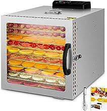 1000W Déshydrateur alimentaire à 10 bacs avec et lumière chaude, thermostat 30-90 ° C, minuterie 24 heures, déshydrateur p...