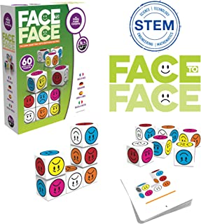 Face to Face – 60 Multi-Level Puzzle Game. Pick The Challenge and Race Your Opponent to Match The Faces and Colors On The Cubes. It's Going to Be Emotional! Promotes Visual Perception Training