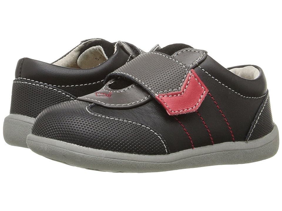 See Kai Run Kids Kanoa (Toddler) (Black Leather) Boys Shoes