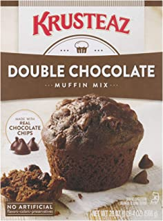 Krusteaz Double Chocolate Muffin Mix - Made with Real Chocolate Chips - 20 OZ (Pack of 3)