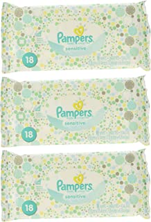 Pampers Sensitive Wipes 18 Count 3 Pack