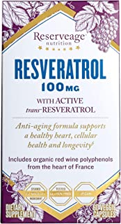 Sponsored Ad - Reserveage, Resveratrol 100 mg Antioxidant Supplement for Heart and Cellular Health, Supports Healthy Aging...