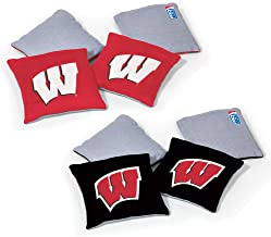 Wild Sports NCAA Wisconsin Badgers 8pk Dual Sided Bean Bags, Team Color