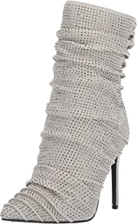 Penny Loves Kenny Women's OVERT Fashion Boot, grey jeweled lycra, 10 Medium US