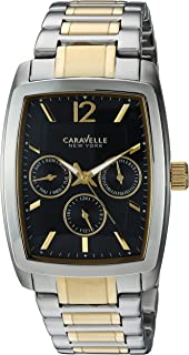 Caravelle Quartz Movement Black Dial Men's Watch 45C112