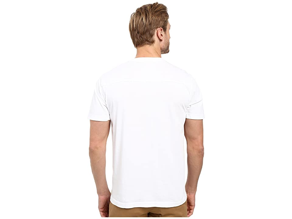 Agave Denim Agave Supima Crew Neck Short Sleeve Tee (White) Men's T Shirt