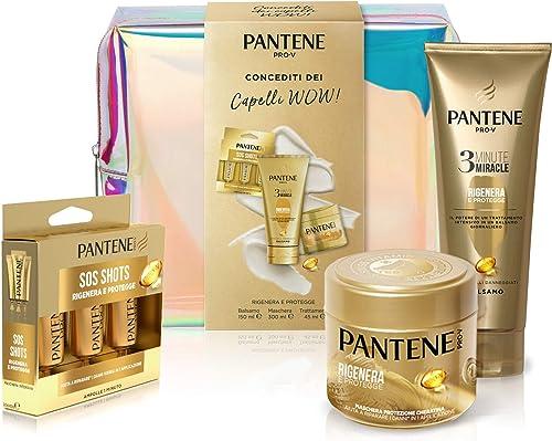 Pantene Pro-V Rigenera&Protegge Set Regalo per Capelli: 1 x Balsamo 3 Minute Miracle (150 ml), 1 x Maschera Protezion...