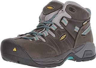 KEEN Utility Women's Detroit XT Mid Steel Toe Waterproof Work Boot, gargoyle/lake Blue, 7