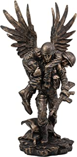 "Ebros Gift Hacksaw Ridge Guardian Angel Military Soldier Carrying A Wounded Brother Figurine 13"" Tall Marine Special Unit Hero of The American US Army Statue Patriotic Decor War Combat Sculpture"