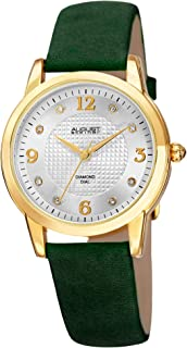 August Steiner Women's AS8198 Quartz Watch Dial Suede Leather Strap