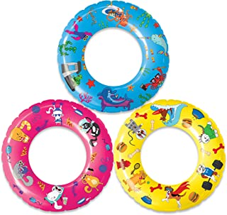 USA Toyz Pool Floats and Swimming Rings for Kids - 3 Pack Inflatable Pool Floats, Swim Rings, Beach Floats and Swim Tube Set w/ Original Designs (Dogs, Cats, Fish)