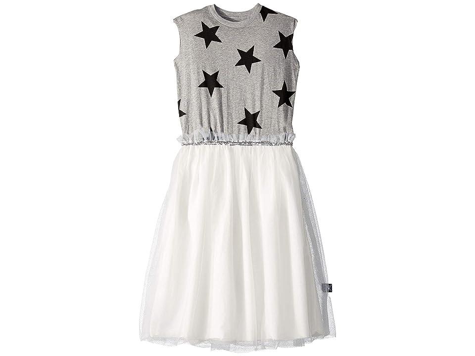 Nununu Star Tulle Dress (Little Kids/Big Kids) (Heather Grey) Girl