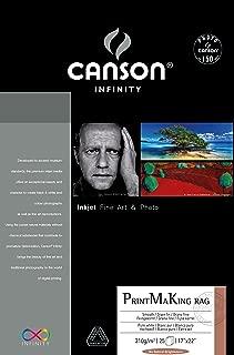 Canson Infinity PMK Printmaking Rag Fine Art Paper, 310 Gram , 17 x 22 Inch, 10 Sheets