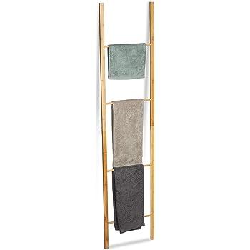 Toallero Zeller de bambú, Natural, Aprox. 50 x 3,5 x 182,5 cm.: Amazon.es: Hogar