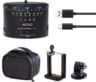 Movo Photo MTP 11 motorisiertes Zeitraffer Stativ mit Einstellbarer Geschwindigkeit, Zeit und Richtung mit eingebauter Wieder aufladbarer Batterie   Für DSLR Kameras, Go Pro und Smartphones