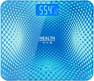 HOUJIA Escala de Peso Corporal,Escala de Peso Humano,Máximo 150 Kg Báscula Grasa Báscula Grasa Corporal Bluetooth Más de Funciones,Báscula Analógica Monitores de composición Corporal