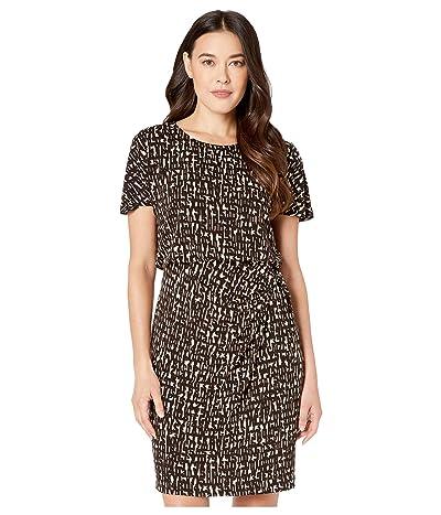 NIC+ZOE Petite Letterpress Dress (Multi) Women