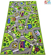 """ToyVelt Kids Carpet Playmat Car Rug – City Life Educational Road Traffic Carpet Multi Color Play Mat - Large 60"""" x 32"""" Best Kids Rugs for Playroom & Kid Bedroom – for Ages 3-12 Years Old"""