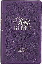 KJV Holy Bible, Giant Print Standard Size, Purple Faux Leather w/Ribbon Marker, Red Letter, King James Version