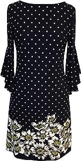 فستان نسائي من Sandra Darren بأكمام مرفرفة من كريب طحلبي