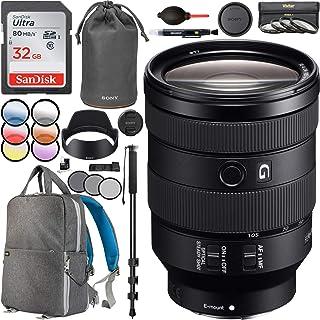 Sony FE 24-105mm F4 G OSS フルフレーム Eマウント 標準ズームレンズ SEL24105G 67mm マルチコートUV、ポラライザー、FLDフィルターキット付き 写真用バックパックセット