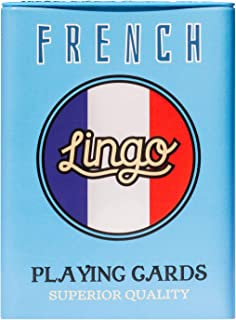 Lingo Playing Cards in Tin Box | Sturdy Travel Case | Language Learning Game Set with Useful Phrases | Fun Visual Flashcard Deck to Increase Vocabulary and Pronunciation Skills
