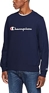 Champion Men's Script Crew Pullover Sweat