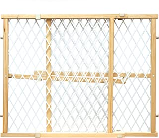 Four Paws Wood Frame Dog Gate With Plastic Mesh, 26-42