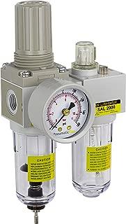 PneumaticPlus SAU2010M-N02G Mini Two-Unit Compressed Air Filter Regulator Lubricator Piggyback Combo 1/4