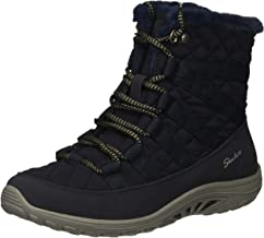 Skechers Women's Reggae Fest-Moro Rock-Short Quilted Lace Up Bootie Ankle Boot