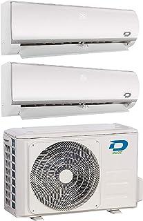 Diloc Frozen Aire Acondicionado MultiSplit, Aire Acondicionado 4,1 kW Inverter Dual Gas R32 D.FROZEN240 (9000 + 12000 Btu (9+12) D.FROZEN9 + D.FROZEN12)