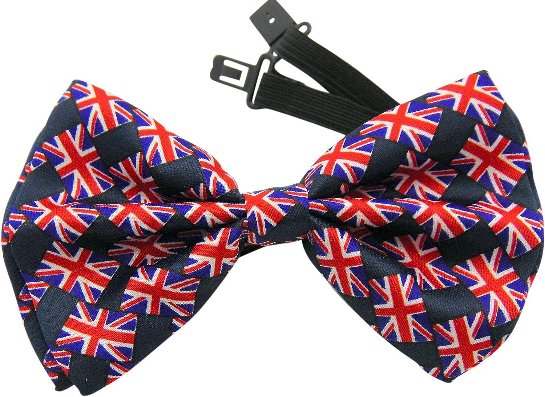 Union Jack British UK Flag Bowtie Pre-tied Adjust Satin Party Bow Tie