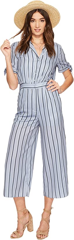 Wide Leg Jumpsuit with Sleeve Ties