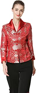Bitablue Women's Flowers of Rich and Honor Chinese Brocade Jacket Red