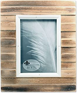Lawrence Frames 5x7 Natural Weathered Wood Picket Fence Picture Frame