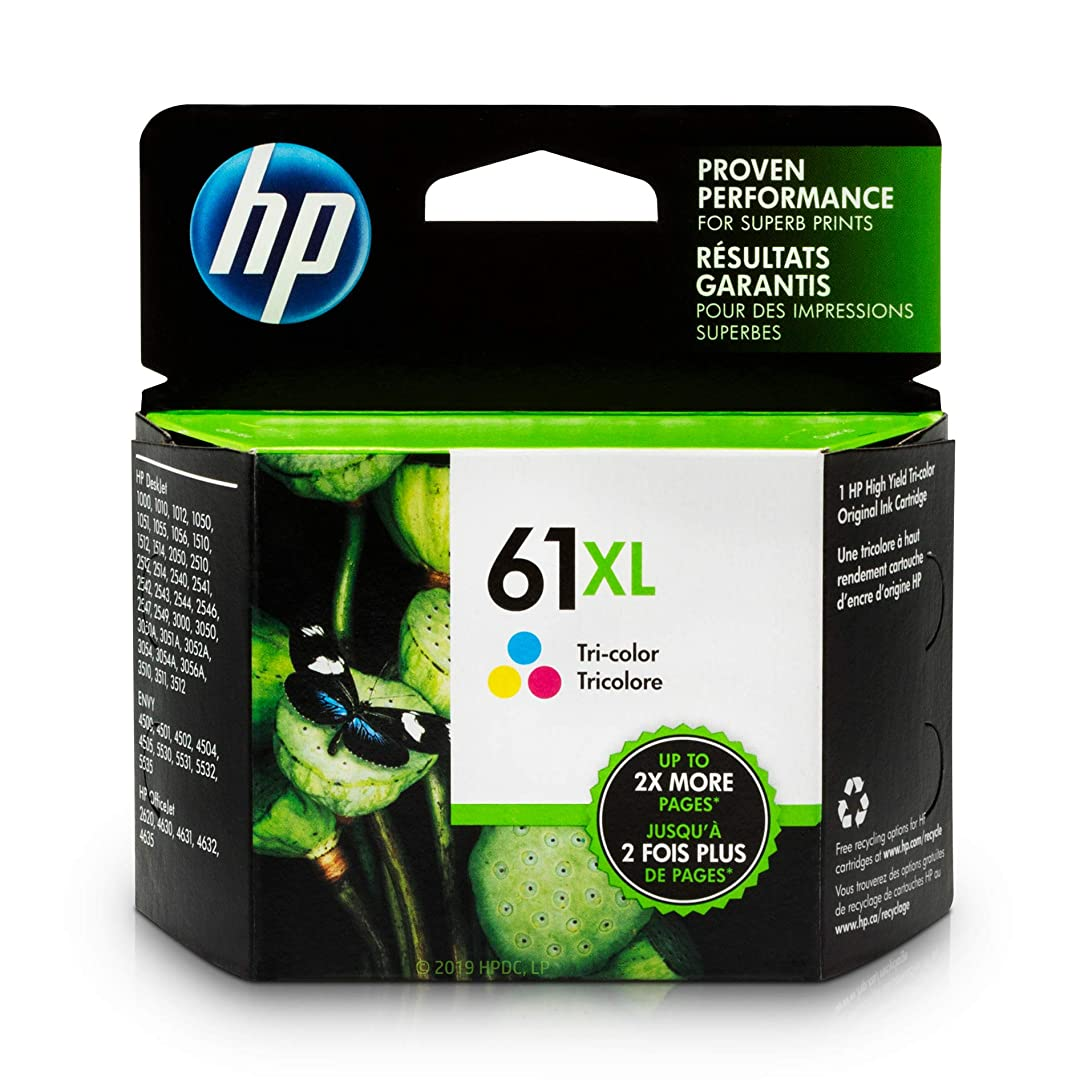 HP 61XL Ink Cartridge Tri-color (CH564WN) for HP Deskjet 1000 1010 1012 1050 1051 1055 1056 1510 1512 1514 1051 2050 2510 2512 2514 2540 2541